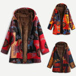 Women Vintage Large Size Hooded Coat