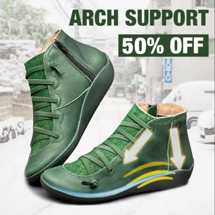 Three Arch Support Winter Vintage Boots