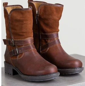 Winter women's buckle boots