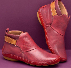 Comfy Daily Adjustable Soft Leather Booties