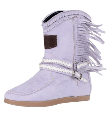 2020 New Women's Tassel Faux Suede Winter Boots
