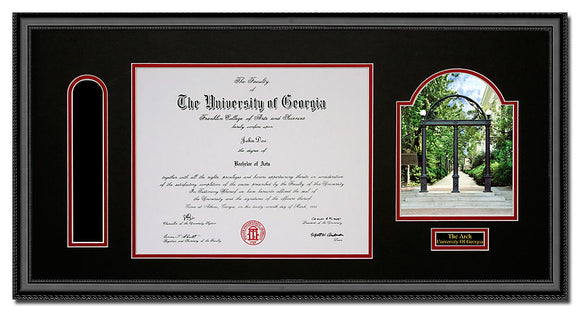 University of Georgia Horizontal Arch Diploma Frame with Tassel