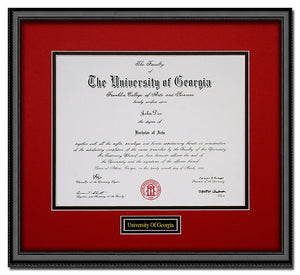 University of Georgia Diploma Frame