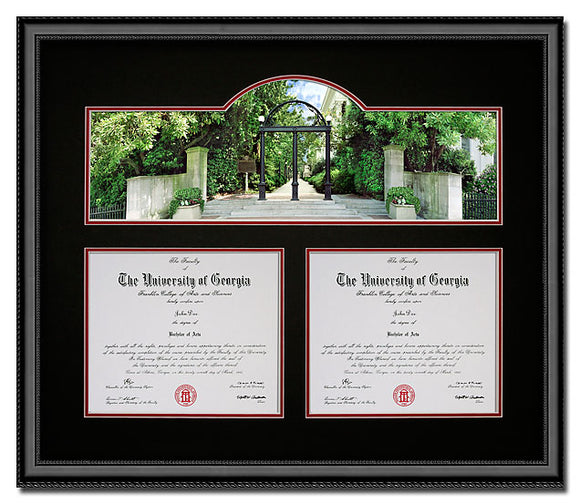 University of Georgia Double Diploma Frame