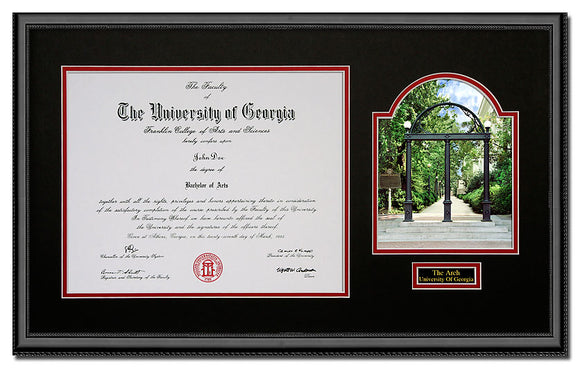 University of Georgia Horizontal Arch Diploma Frame
