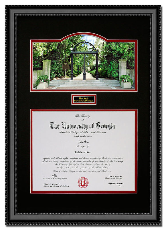 University of Georgia Vertical Arch Diploma Frame