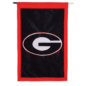 UGA House Flag Embroidered