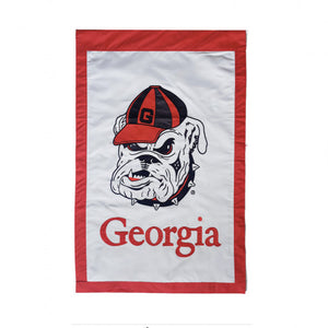 UGA House Flag Bulldog Embroidered