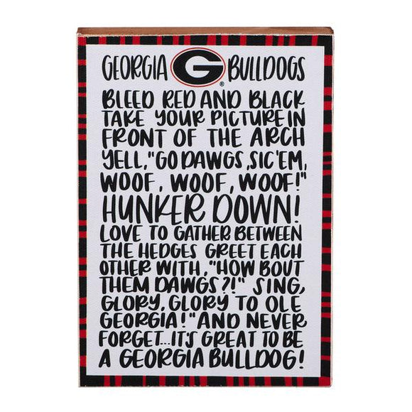 Georgia Fan Block Canvas