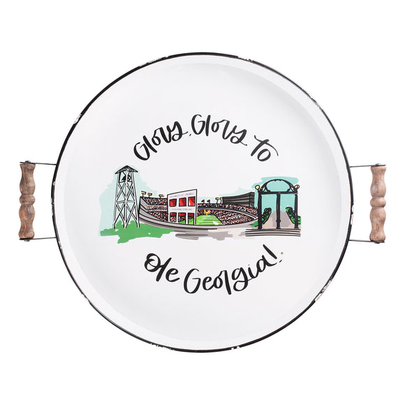 University of Georgia Landmark Enamel Tray