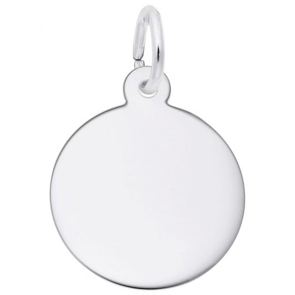 Sterling Silver Small Round Disc #2