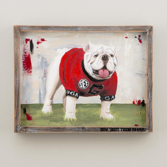 UGA Bulldog Framed Canvas