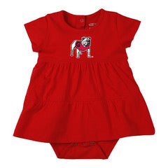 UGA Fia Infant Tiered Dress