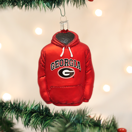 University of Georgia Hoodie Ornament