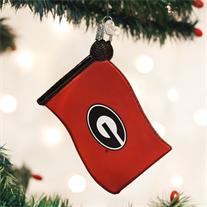 University of Georgia Flag Ornament