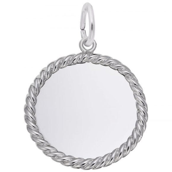 Sterling Silver Rope Disc #15