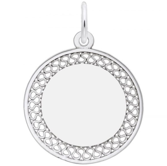 Sterling Silver Filigree Round Disc #3