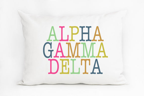 Sorority Color Block Pillow