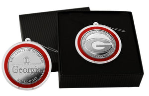 University of Georgia Silver Coin Ornament