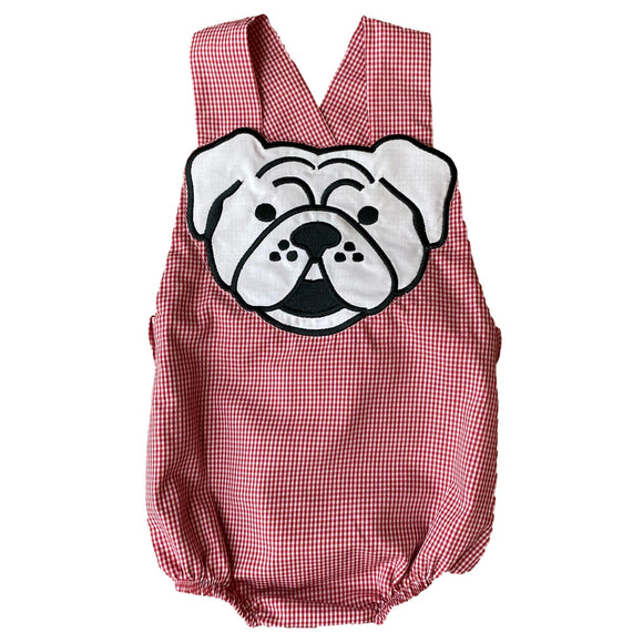 Little Boy Applique Bulldog Bubble