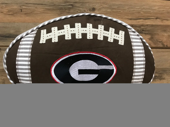 University of Georgia Football Pillow