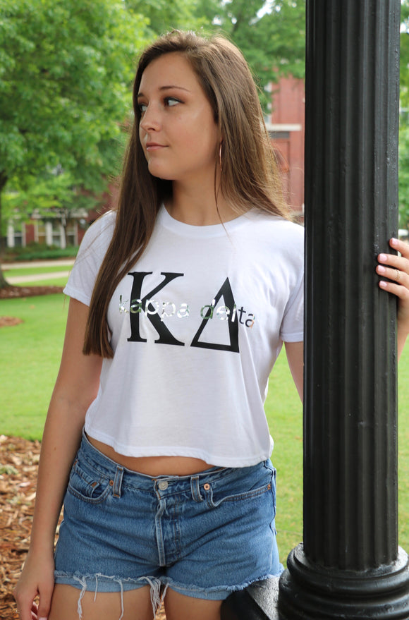 Sorority Custom Bella Canvas Cropped Tee