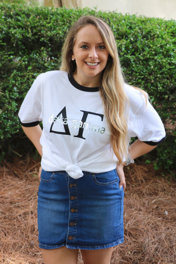 Sorority Custom Ringer Tee