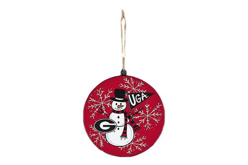 Magnolia Lane Metal UGA Snowman Ornament