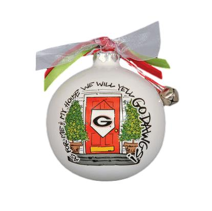Magnolia Lane UGA My House Porcelain Ornament