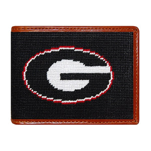 Georgia Bulldogs Smathers and Branson Needlepoint Wallet