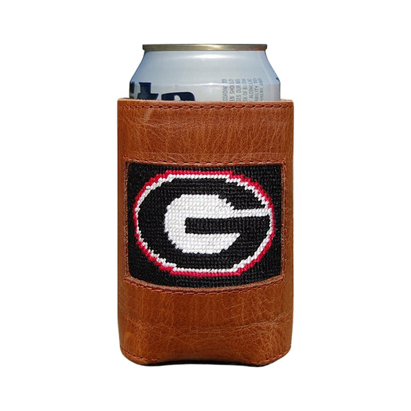 Georgia Bulldogs Smathers and Branson needlepoint koozie