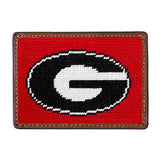 University of Georgia Georgia Bulldogs Smathers and Branson Needlepoint Wallet