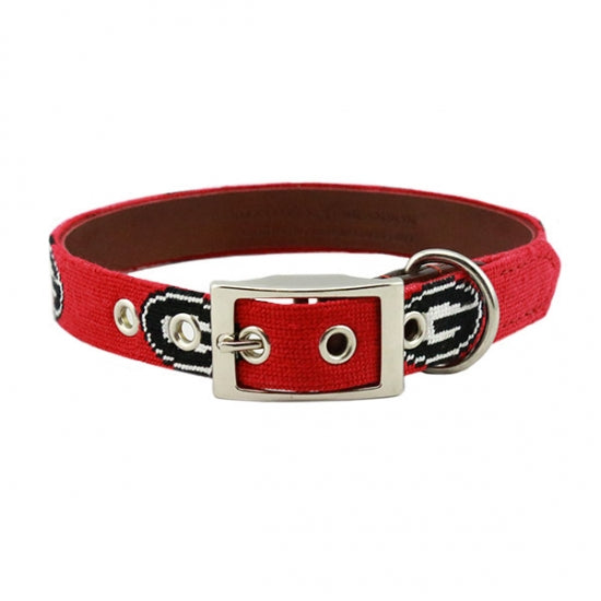 University of Georgia Georgia Bulldogs Smathers and Branson Needlepoint Dog Collar