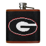 University of Georgia Georgia Bulldogs Smathers and Branson Needlepoint Flask