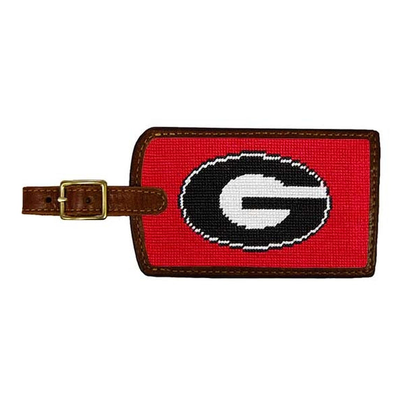 University of Georgia Georgia Bulldogs Smathers and Branson Needlepoint Luggage Tag