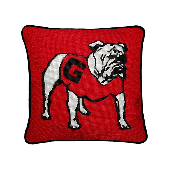 University of Georgia Georgia Bulldogs Smathers and Branson Needlepoint Pillow