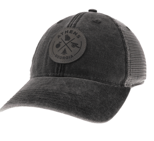 ATH Legacy Round Leather Patch Old Favorite Trucker Hat.