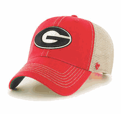 UGA 47 Brand G Trawler Trucker Hat - Red