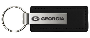 Georgia LXG Carbon Fiber Metal Leather Keychain Black