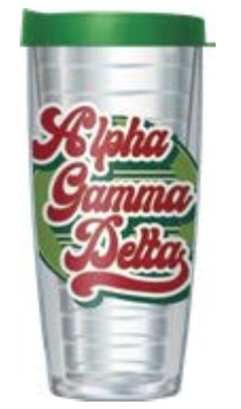 Sorority Retro Name Double Wall Tumbler