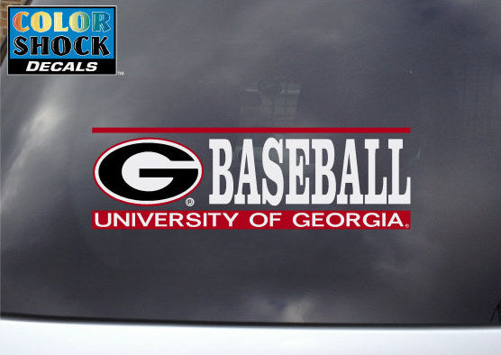 UGA Decal Baseball