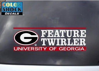 UGA Decal Feature Twirler