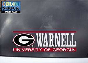 UGA Decal Warnell