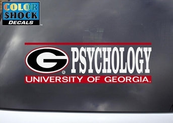 UGA Psychology Decal