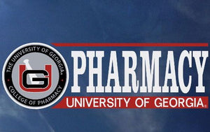 University of Georgia Pharmacy Seal Bar Decal