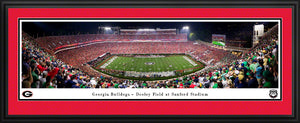 Deluxe Frame Panoramic of University of Georgia vs Notre Dame Game 2019