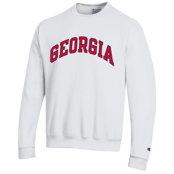 UGA Champion Powerblend Crew White