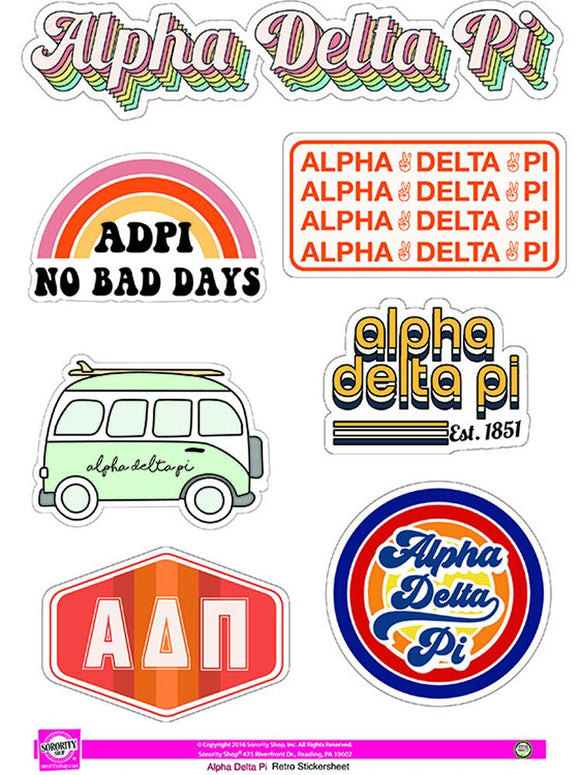 Sorority Retro Sticker Sheet