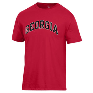 Arched Georgia Champion T-Shirt Red