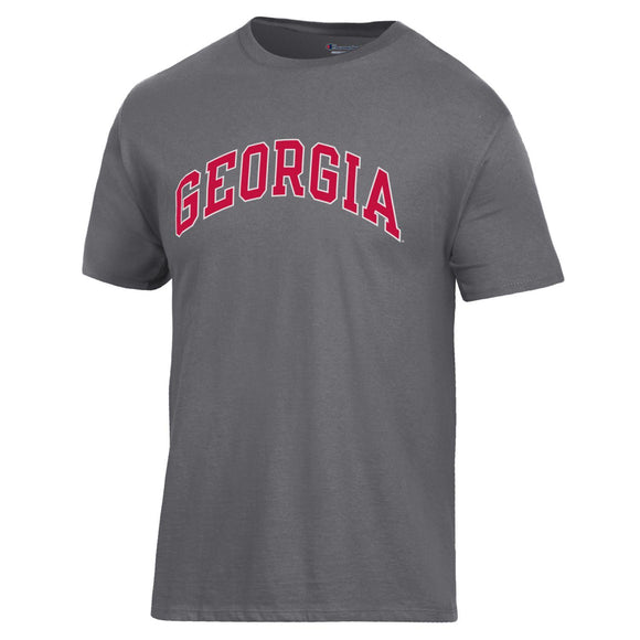Arched Georgia Champion T-Shirt Granite Heather